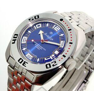 【送料無料】腕時計 ヴォストークロシアダイバーウォッチサブvostok amphibia russian diver watch 200m sub 710406