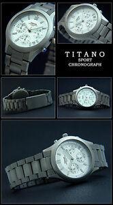 【送料無料】腕時計 レディースフライヤーチタニウムクロノグラフバーtitanodamen flieger titan chronograph uhr 5 bar wasser dicht neu