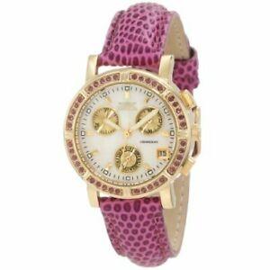 【送料無料】腕時計 ワイルドフラワーレザークロノグラフウォッチinvicta wildflower 10314 leather chronograph watch