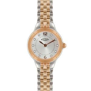 【送料無料】腕時計 ロータリーレディーストーンブレスレットポンドrotary ladies stone set two tone bracelet watch  lb0276259