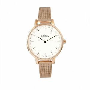 【送料無料】腕時計 メッシュブレスレットウォッチローズゴールドトーンsimplify the 5800 mesh bracelet watch rose goldtonewhite