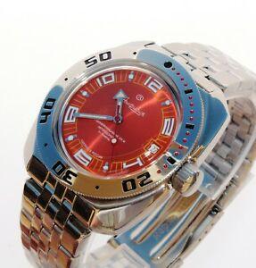 【送料無料】腕時計 ヴォストークダイバーウォッチサブvostok amphibia diver watch 200m sub 710395
