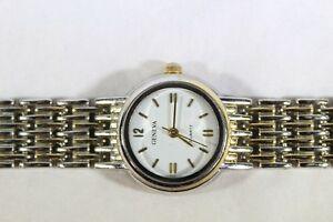 【送料無料】腕時計 ジュネーブクォーツゴールドシルバートーンウォッチウオッチメーカーwomens geneva quartz gold and silver tone watch wristwatch exc cond 75