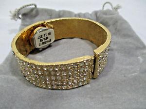 腕時計 ゴールドブレスレットnwt vtg unique apris gold bling bracelet hidden womans watch crystals