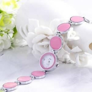 【送料無料】腕時計 ファッションピンクエナメルアメリカ fashion pink enamel circle watch ~ free shipping to usa w06