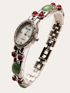 【送料無料】腕時計 インフィニティーアンティークカラーアナログクォーツinfinitywomens antique semi precious color stones links analog quartz watch