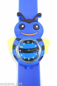 【送料無料】腕時計 ジョリーシリコーンブレスレットアナログウォッチスラップslap wrist watch bracelet analog for childrens jolly blue bee quartz silicone