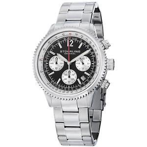 【送料無料】腕時計 モナコメンズクロノグラフクォーツstuhrling monaco 669b mens 42mm chronograph krysterna quartz date watch 669b01