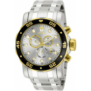【送料無料】腕時計 プロダイバーステンレススチールクロノグラフウォッチinvicta pro diver 80040 stainless steel chronograph watch