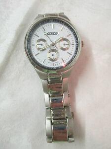 【送料無料】腕時計 メンズステンレススチールジュネーブmens stainless steel geneva watch quartz day date