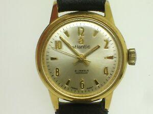 【送料無料】腕時計 ビンテージスイスハイグレードレディースvintage atlantic 21 jewels swiss made high grade ladies wrist watch working