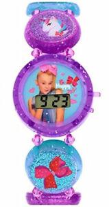 【送料無料】腕時計 シワパープルブレスレットデジタルストレッチウォッチjojo siwa purple stretch bracelet lcd digital watch