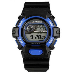 【送料無料】腕時計 デジタルアラームスポーツウォッチsynoke 67556 led digital alarm waterproof sport watch