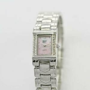 【送料無料】腕時計 グリーンレディースステンレスシルバーピンクブレスレットgruen womens stainless silver easy read wr pink mop stone quartz bracelet watch