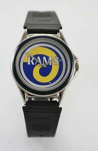 【送料無料】腕時計 メンズウォッチラムロゴステンレスシルバーゴムバッテリークォーツ