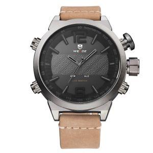 【送料無料】腕時計 ヤナギファッションデジタルレザーストラップデュアルワットweide wh6101 fashion led digital watch waterproof leather strap dual display wat