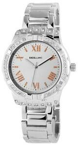【送料無料】腕時計 レディースシルバーラインストーンウォッチローマアナログメタル×excellanc damenuhr silber strass rmische ziffern analog metall x150822500031
