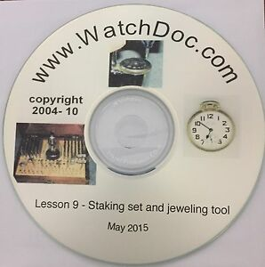 【送料無料】腕時計 メーカーリンツールビデオintroduction to the watchmakers staking set and jeweling tool with videos