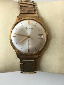 【送料無料】腕時計 ヴィンテージvintage gents 1960s accurist hand winding dress wrist watch