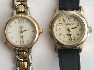 【送料無料】腕時計 ロットlot of 2 watches timex amp; carriage by timex womens indiglo wr30m batteries