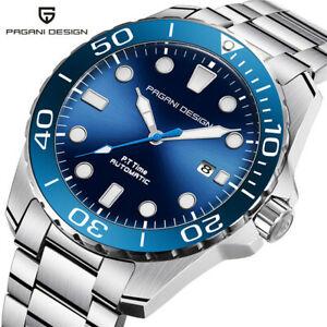 【送料無料】腕時計 ビジネスステンレススチールレーサーダイバーウォッチpagani design automatic men watch business stainless steel racer diver gift