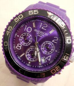 【送料無料】腕時計 マディソンニューヨークmontre chronographe madison york mixte design ,precision 7 echellesvaleur