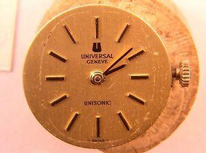 【送料無料】腕時計 レディースユニバーサルジュネーブムーブメントladies universal geneve13j ultrasonic watch movement cal 47 runs