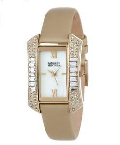 【送料無料】腕時計 スワロフスキークリスタルゴールドトーンストラップウォッチbadgley mischka swarovski crystal goldtone rectangular strap watch ba1302wmgd