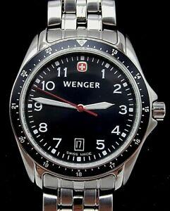 【送料無料】腕時計 ブランドメンズウェンガーステンレススチールスイスbrand mens wenger wrist watch 7212x all stainless steel 100m swiss made