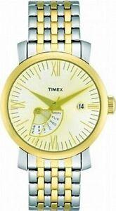 【送料無料】腕時計 トーンシルバーゴールドレディブレスレットウォッチtimex two tone silver amp; gold lady retrograde bracelet watch t2m427