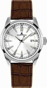 11443c ジャックルマンブラウンレザーストラップウォッチリバプールjacques leather lemans 【送料無料】腕時計 gents watch liverpool brown strap