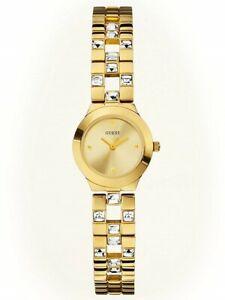 【送料無料】腕時計 ゴールドトーンステンレススチールブレスレット authentic guess u10085l1 goldtone stainless steel bracelet watch 23mm nwt