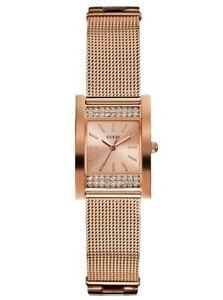 【送料無料】腕時計 ローズゴールドトーンステンレスメッシュウォッチ authentic guess u0127l3 womens rose goldtone stainless steel mesh watch