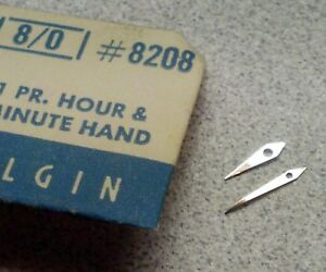 【送料無料】腕時計 ビンテージセットset of vintage nos elgin 80 pn 8208 silver dauphine hourminute hands
