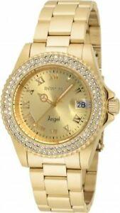【送料無料】腕時計 ゴールドトーンステンレススチールウォッチ19513 invicta 40mm womens angel goldtone stainless steel watch