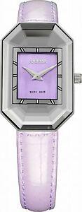 【送料無料】腕時計 スカラパープルレザーjowissa womens j8013s scala rectangle purple leather wristwatch
