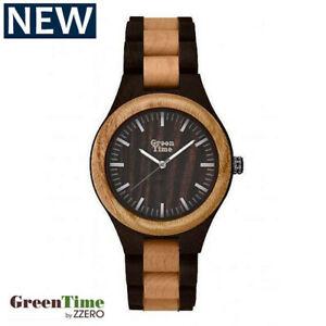【送料無料】腕時計 ビコウォッチorologio green time uomo watch wood zw065g legno bicolore ulivo sandalo 40mm