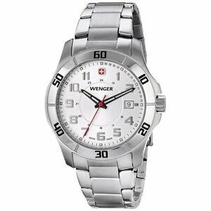 【送料無料】腕時計 ウェンガーメンズスイスクオーツブレスレットウォッチwenger mens swiss made quartz bracelet watch 70489