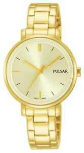 【送料無料】腕時計 パルサーステンレススチールブレスレット×pulsar womans gold plated stainless steel bracelet ph8360x1 watch 34