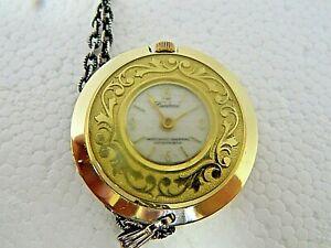 【送料無料】腕時計 ビンテージルツェルンゴールドトーンレディースペンダントポケットウォッチ