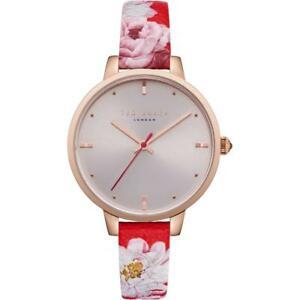 【送料無料】腕時計 テッドベーカーレディースレッドストラップテ¥ted baker ladies red floral design strap watch te50005011 rrp 135
