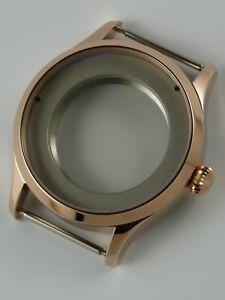 【送料無料】腕時計 ゴールドオニオンローズサファイアケースboitier montre 41mm eta 2824 ou sw200 pvd rosegold onion saphir watchcase