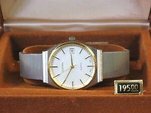 【送料無料】腕時計 ビンテージトーントーンメンズvintage dufonte by lucien piccard two tone tone quartz wrist watch mens