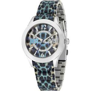 【送料無料】腕時計 キャバリハバナラトブルorologio donna just cavalli havana r7253177503 policarbonato maculato blu