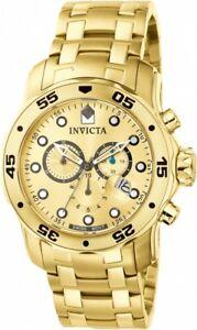 【送料無料】腕時計 メンズプロダイバークロノグラフゴールドトーンステンレススチールinvicta mens pro diver chronograph 200m gold tone stainless steel watch 0074