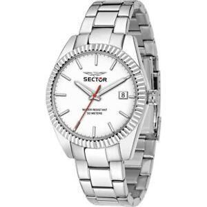 【送料無料】腕時計 セクターサブorologio uomo sector 240 r3253240012 bracciale acciaio bianco sub 50mt