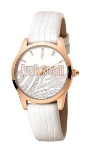 【送料無料】腕時計 キャバリ#ローズゴールドホワイトレザーウォッチjust cavalli women039;s jc1l010l0455 firma rosegold ip white leather watch