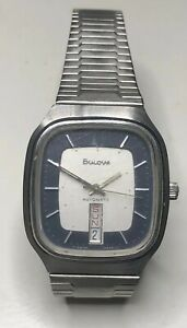1980 bulova 【送料無料】腕時計 calendar stainless watch automatic steel 141310 men's wristwatch