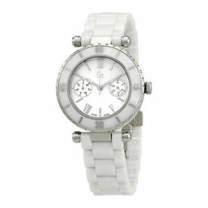 【送料無料】腕時計 コレクションパールセラミックスイスサファイアドルウォッチguess collection watch lady mother of pearl ceramic swiss sapphire i35003l1 400