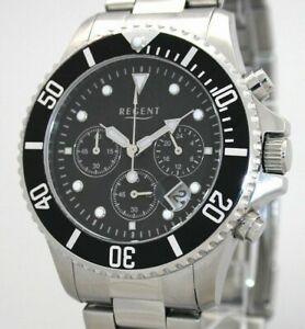 【送料無料】腕時計 リージェントスチールクロノユーロバーregent steel os 20 chrono f653 uvp 128,00 eur 5 bar wr neu